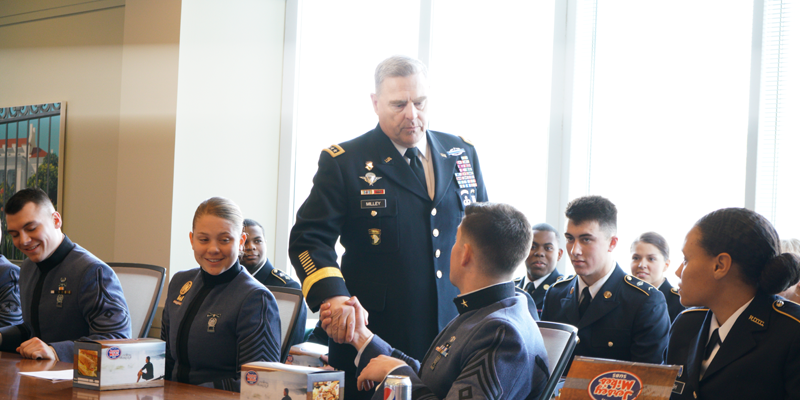 U.S. Army Chief of Staff General Mark A. Milley speaks at Kenan-Flagler